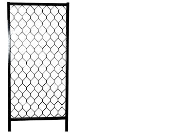 Artnr:91520 - Höjd:2100mm - Bredd:1025mm Redskapsgallret finns i tre olika höjder och kan kombineras oavsett höjderna. Höjdmåttet anger måttet från marknivå när gallret är monterat. Redskapsgallrets ben är rostskyddsbehandlade invändigt. Pulverlack med UV-beständig färg.
