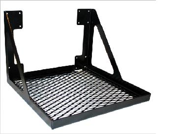 Artnr:91541 - Dimensioner:550x550mm Monteras på galler. Kan förses med stödben i framkant. Pulverlackad UV-beständig färg.