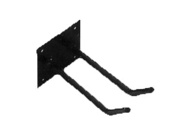 Artnr:91535 - Längd:200mm Redskapskonsol för spadar, krattor, mm. Pulverlackad med UV-beständig färg
